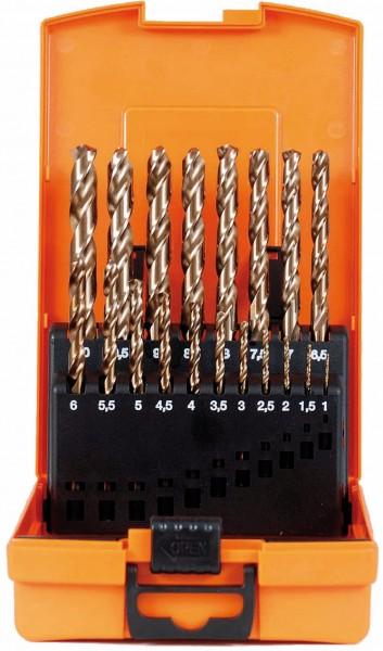 Spiralbohrer-Kassette HSS-Co DIN 338 N ECO 19-tlg.