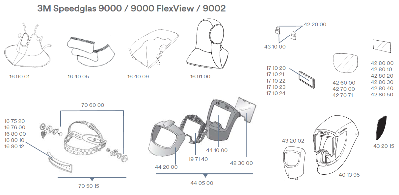 Ersatzteile-3M-Speedglas-9000-9000FlexView-9002
