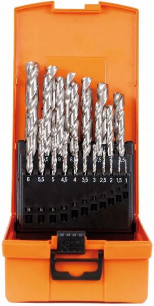 Spiralbohrer-Kassette HSS-G DIN 338 Typ N ECO 25-tlg.