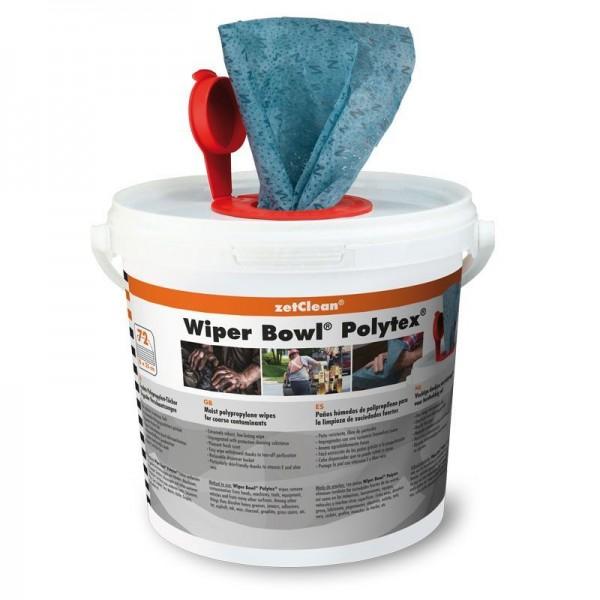 Wiper Bowl Polytex im Spendereimer, feuchte Reinigungstücher