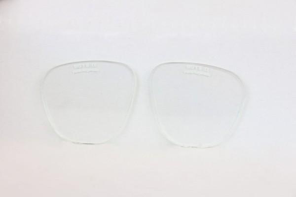 Brillengläser oval, farblos, splitterfrei