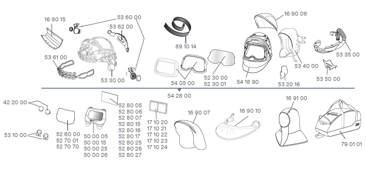 Ersatzteile-3M-Speedglas-9100-FX-Air-Adflo-Versflo