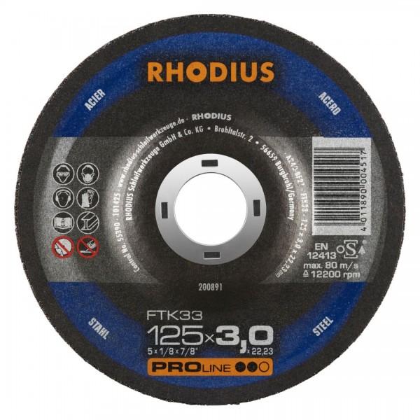 Rhodius Trennscheibe FTK33, Ø 125 mm